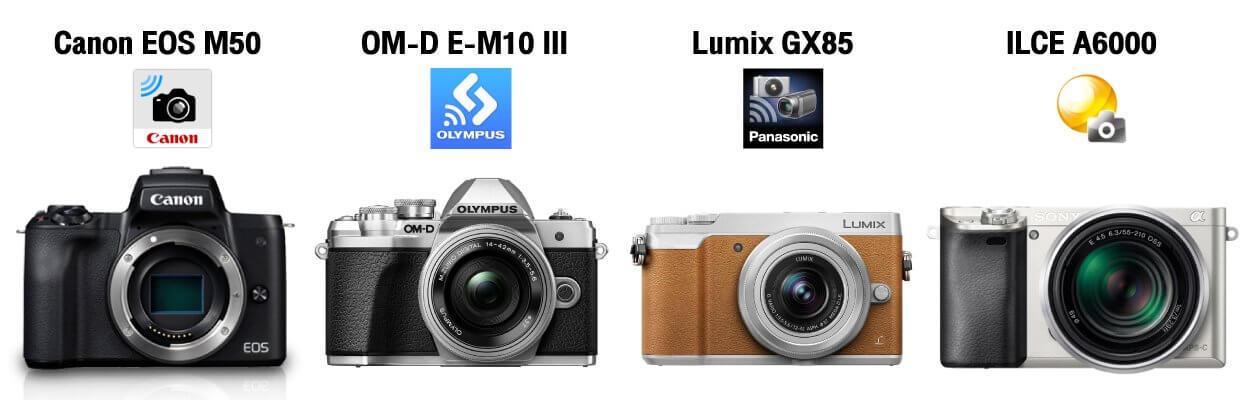 เปรียบเทียบ Canon EOS M50 กับ กล้อง Mirrorless ในระดับเดียวกัน