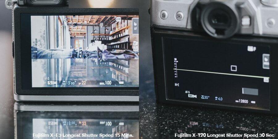 compare fujifilm x e3 vs fujifilm x t 20 5