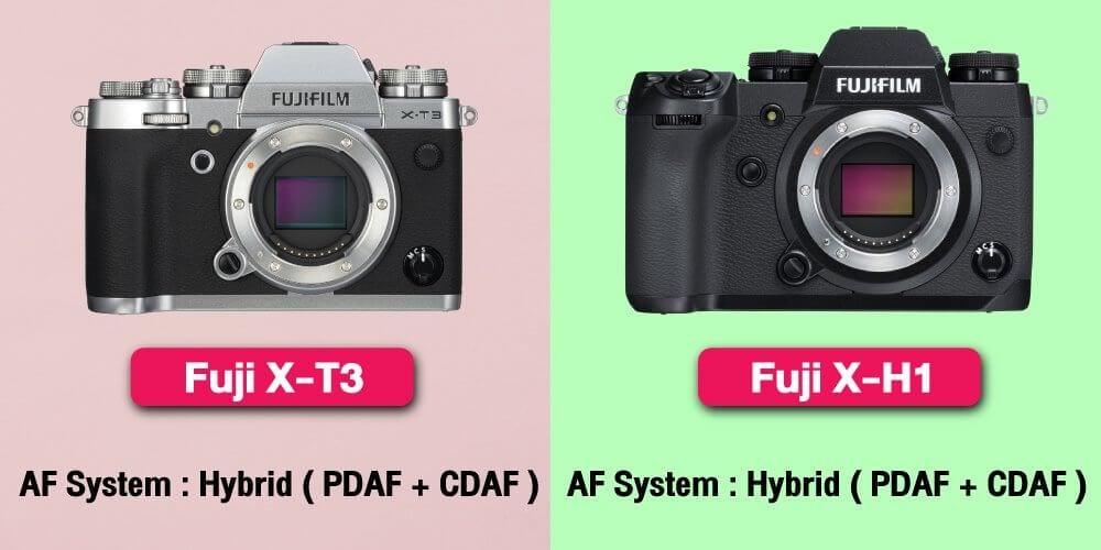 เปรียบเทียบ : Fujifilm X-T3 vs Fujifilm X-H1