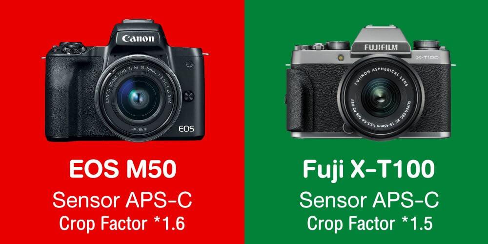 เปรียบเทียบ : Canon EOS M50 vs Fujifilm X-T100
