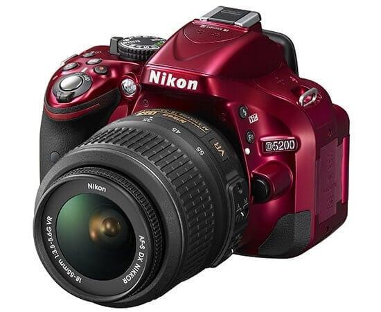 Nikon D5200 DSLR in red