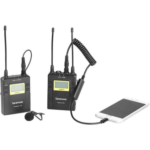 Saramonic LC 35 3.5mm Locking Type Male Jack to Lightning Audio Interface 3