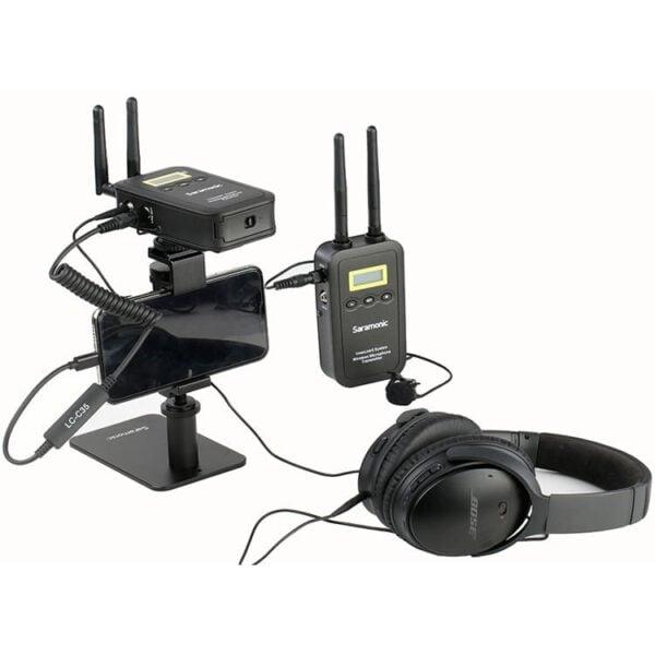 Saramonic LC 35 3.5mm Locking Type Male Jack to Lightning Audio Interface 4