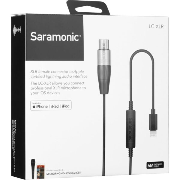 Saramonic LC XLR Lightning microphone cable for SR HM7 7