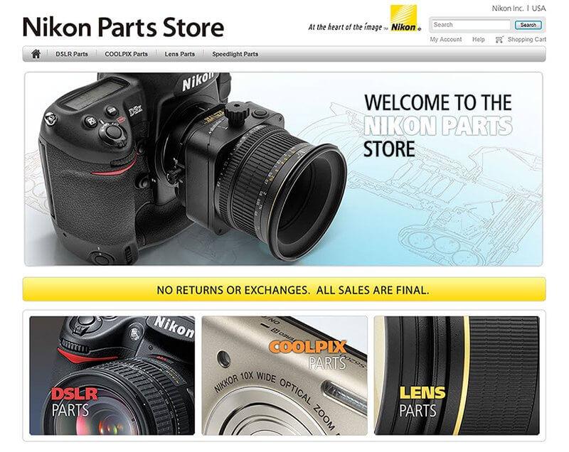 """Nikon เปิดร้านขายอะไหล่กล้อง แบบเป็น""""ชิ้นๆ"""""""