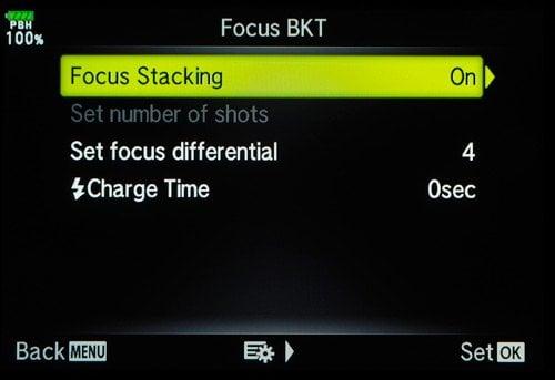 olympus tutorial focus bracketing menu 0