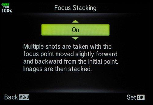 olympus tutorial focus bracketing menu 1
