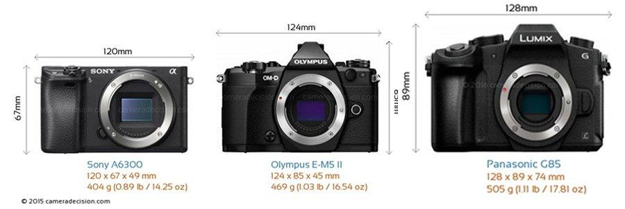 Panasonic G85 Vs Olympus EM5 II Vs Sony A6300 01