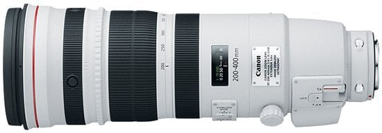 Canon EF 200 400 f4L IS lens 1