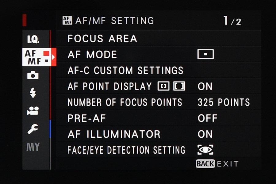 Fuji X T2 AF System 3