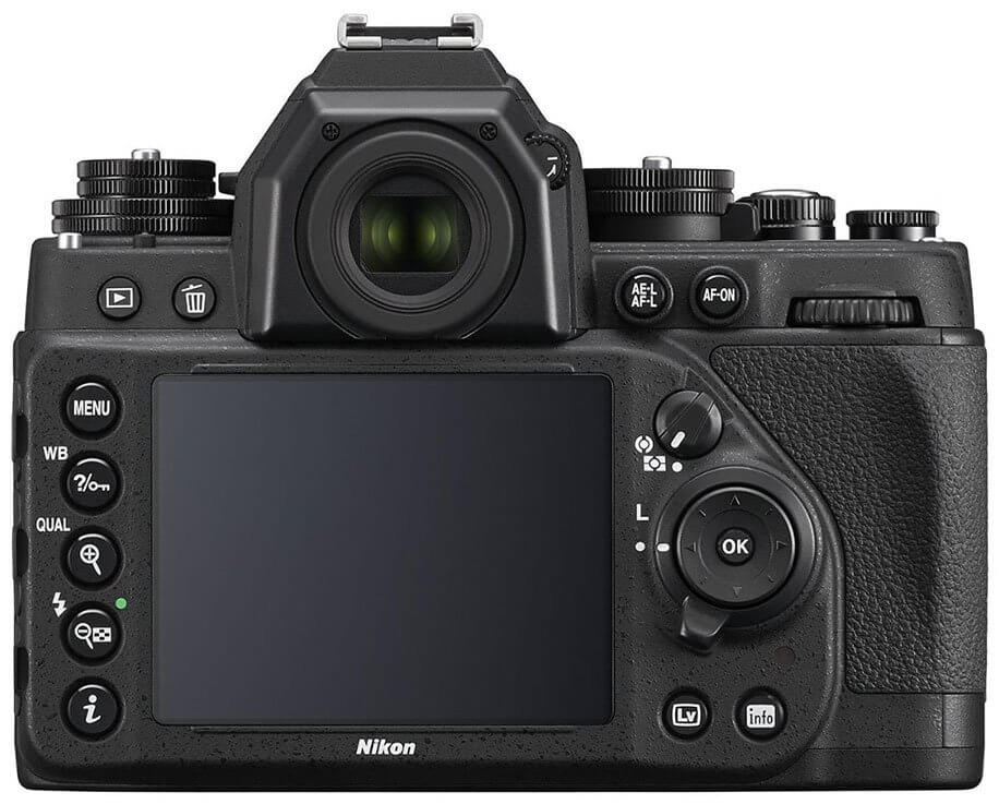 Nikon Df black back view