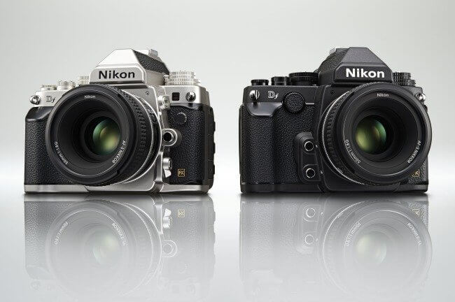 Nikon Df blakc and silver