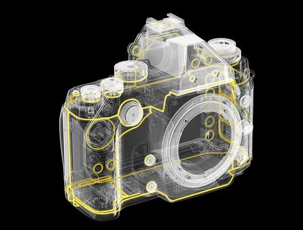 Nikon Df body design
