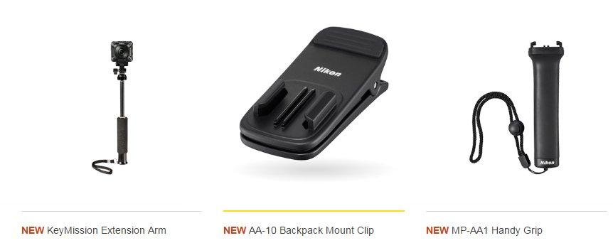 Nikon Key Mission 170 Accessories 2