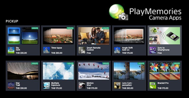 Sony play memories camera apps