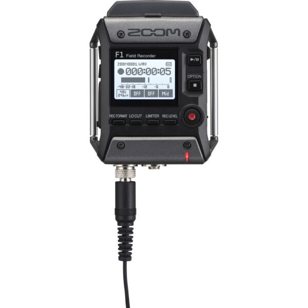 Zoom F1-LP 2-Input / 2-Track Portable Field Recorder with Lavalier Microphone (ประกันศูนย์)