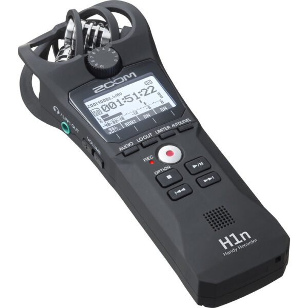 Zoom H1n 2-Input / 2-Track Portable Handy Recorder with Onboard X/Y Microphone