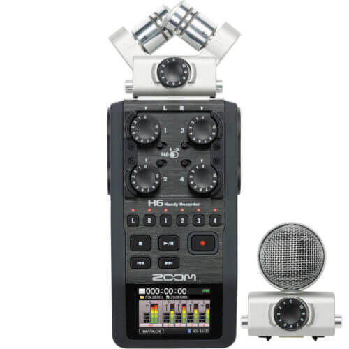 Zoom H6 6-Input 6-Track Portable Handy Recorder
