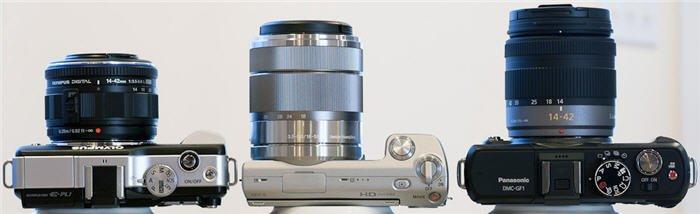 เปรียบเทียบกล้องดิจิตอล mirrorless NEX-5, GF1, E-PL1