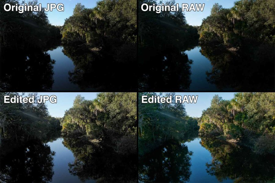 raw vs jpg under exposed and edited 2