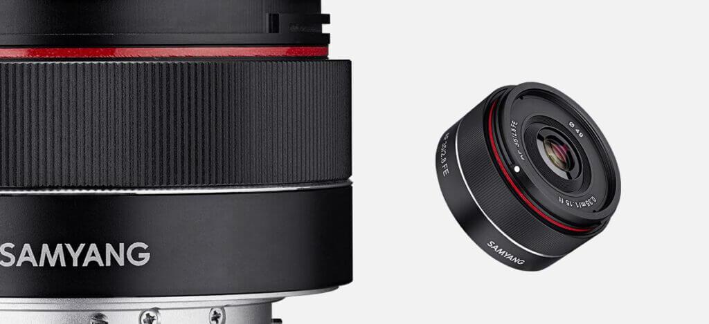 samyang product photo photo lenses AF 35mm F2 8 FE