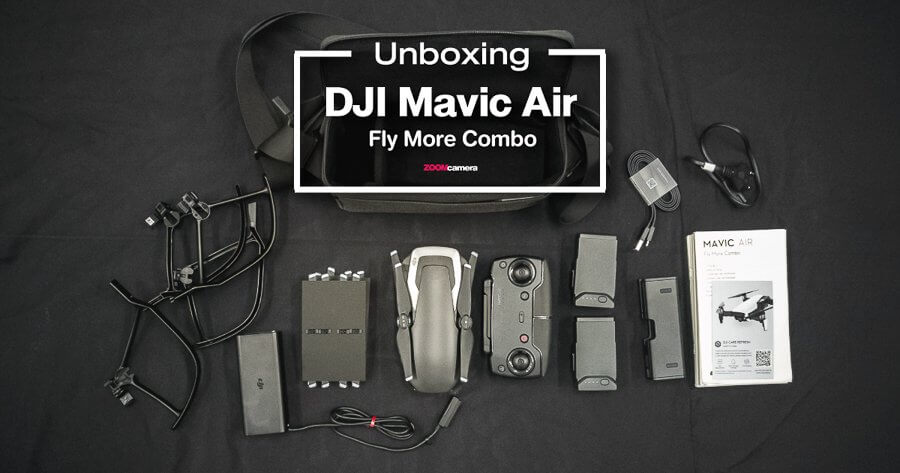 unboxing dji mavic air fly combo zoomcamera cover 2