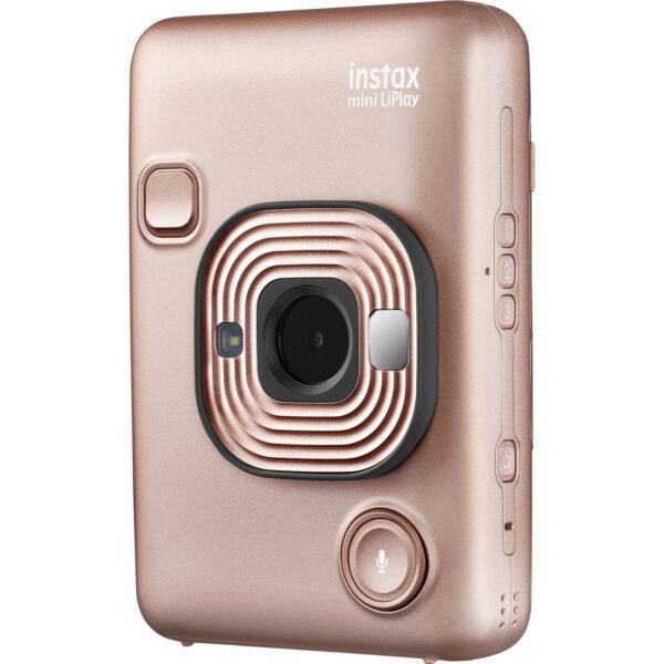 FUJIFILM INSTAX Mini LiPlay Hybrid Instant Camera (Blush Gold)