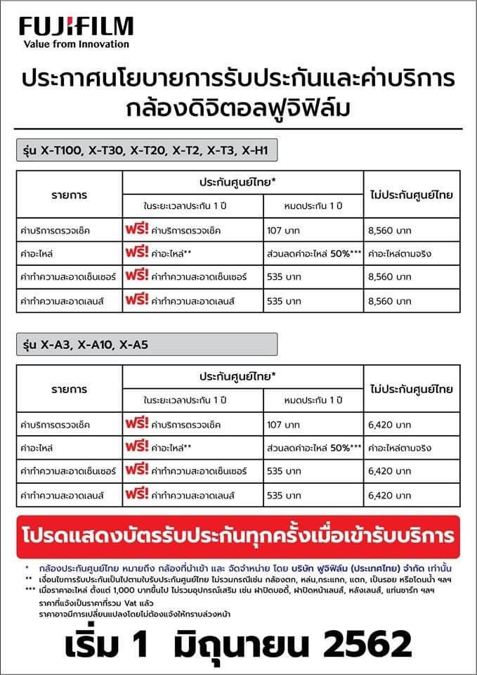 Fujiflim เผยนโยบายครั้งใหญ่ ตอกย้ำการบริการประกันศูนย์ไทย 2