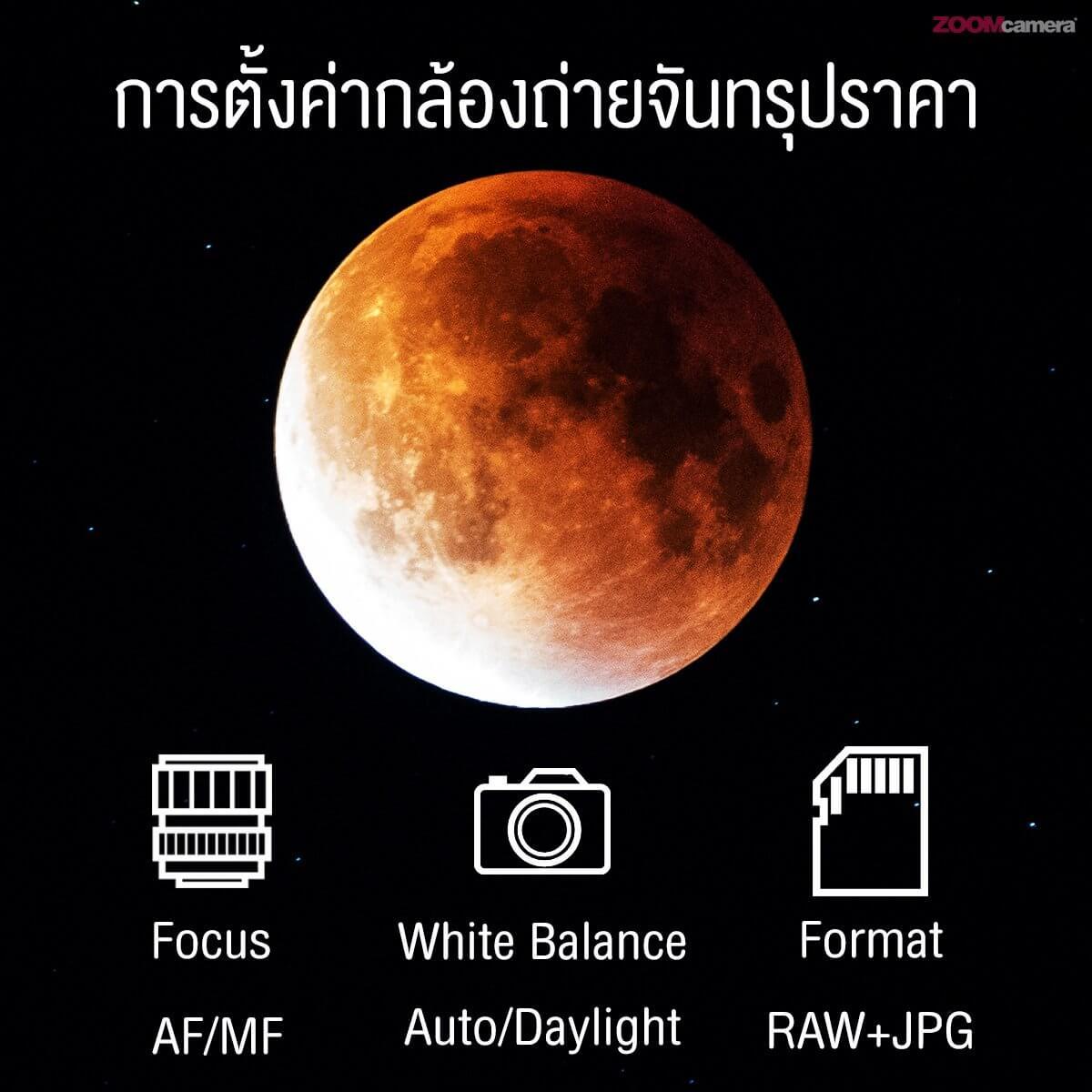 วิธีการถ่ายพระจันทร์ อุปกรณ์ การเตรียมตัว และการเซ็ตค่ากล้อง