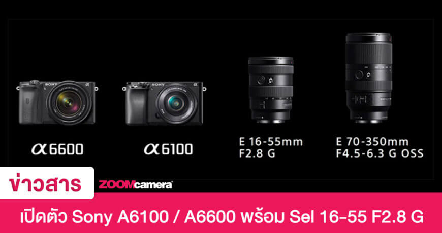official annouced sony a6600 a6100 mirrorless zoomcamera