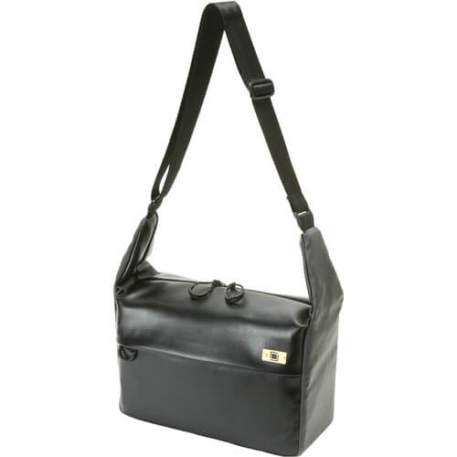 Artisan & Artist PVC Leather:Nylon Shoulder Bag1