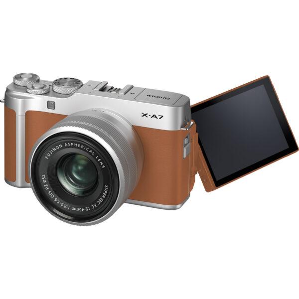 FUJIFILM X-A7 Mirrorless Digital Camera with 15-45mm Lens (Camel)