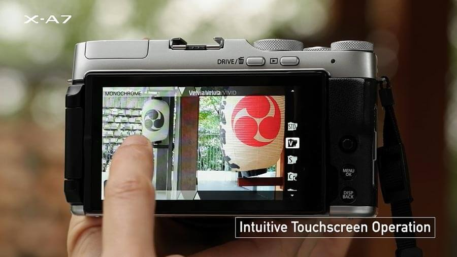 Fujifilm X-A7 กับจอทัชสกรีนที่ไหลลื่นมากขึ้นเหมือนกับใช้กล้องถ่ายภาพบนมือถือ