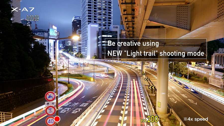 Fujifilm X-A7 กับ โหมดการถ่ายภาพ Light Trail