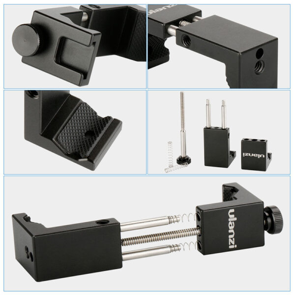 Ulanzi ST-02S Metal Phone Holder - Black (0849)