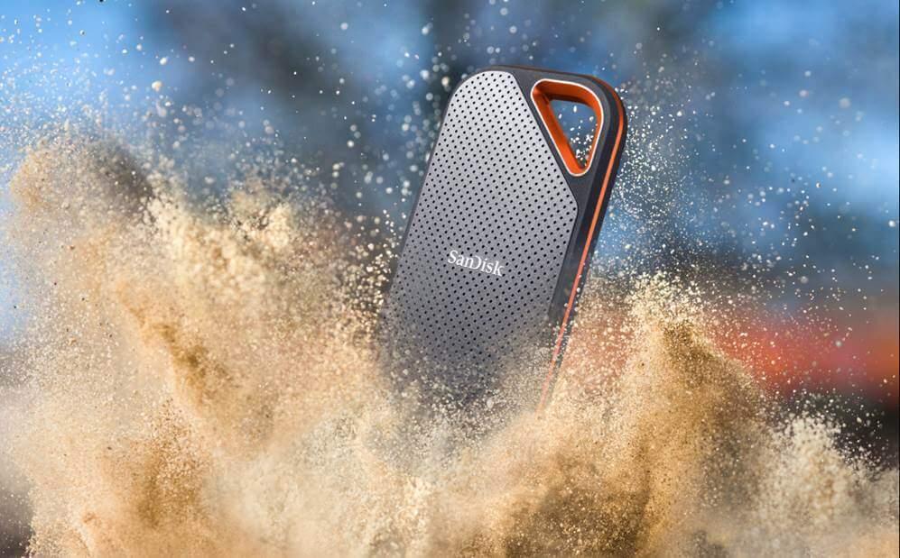 กันฝุ่นขนาดเล็กได้: Sandisk Extreme Pro Portable SSD