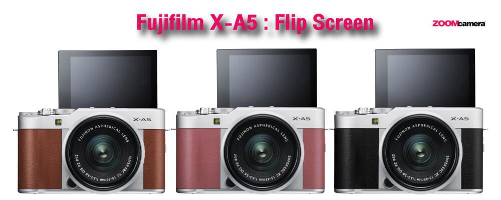 Fujifilm เปิดตัว Fujifilm X-A5 กล้องเซลฟี่ รองรับ Video 4K และ 4K Photo-Zoomcamera