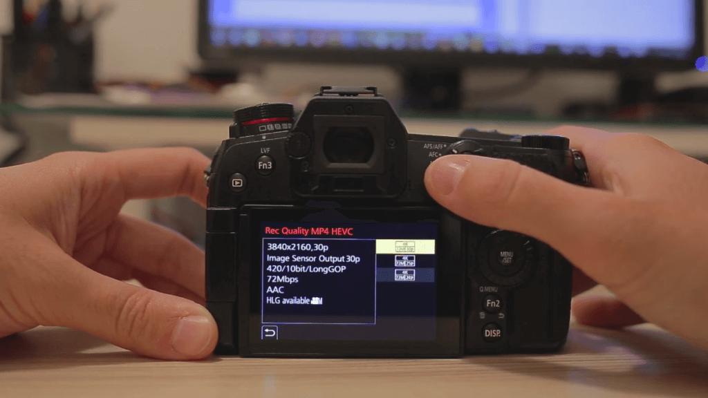 4K 30p 422 10 bit Panasonic Lumix G9