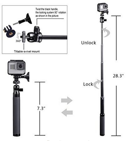 Smatree SQ2 SmaPole Telescoping Selfie 4