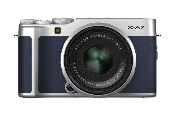 FUJIFILM X-A7 Mirrorless Digital Camera with 15-45mm Lens (Navy Blue)