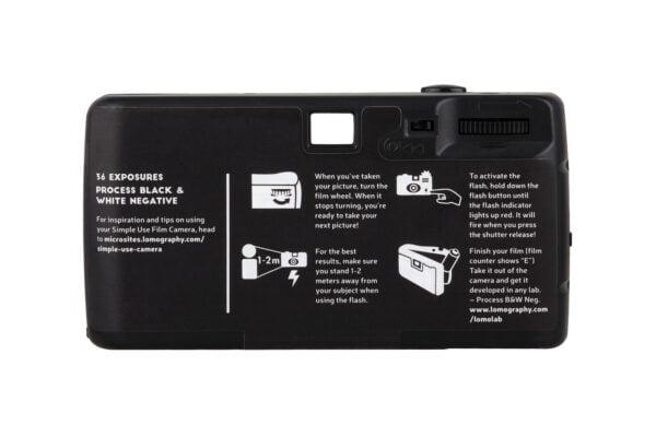 lomography simple use film camera black white 400 back
