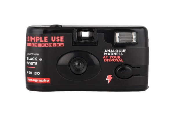 lomography simple use film camera black white 400 front