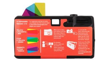 lomography simple use film camera color negative 400 back 1