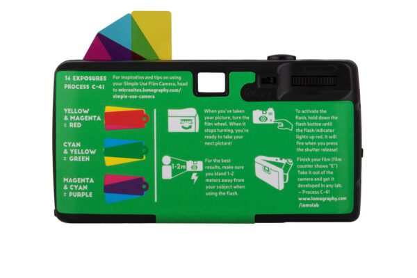 lomography simple use film camera lomochrome purple back