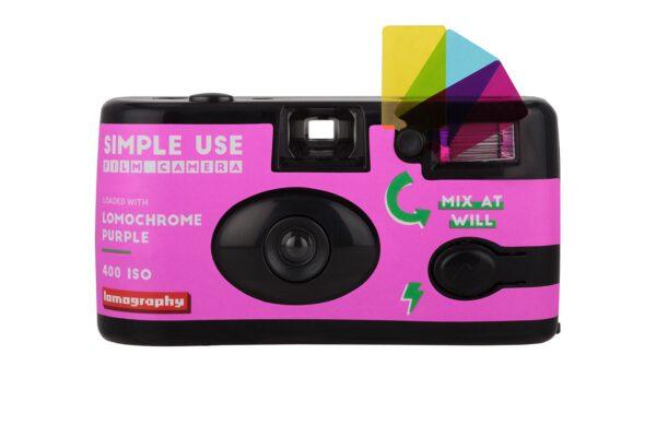 lomography simple use film camera lomochrome purple front