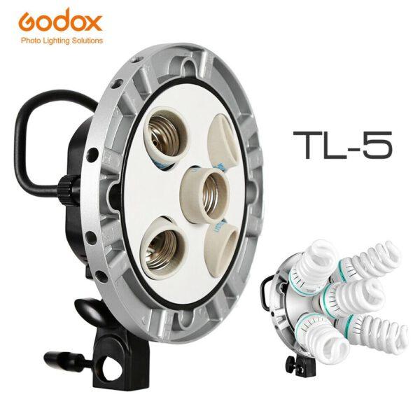 Godox ชุดไฟสตูดิโอ หัวไฟ TL-5K Socket Studio Kit 5-in-1 Bulb Head