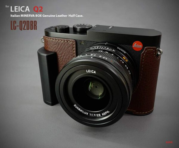 LIMs Design (LC-Q2DBR) Italian Leather half Case with AL-6061 for Leica Q2-Brown