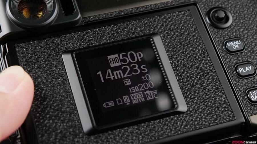 Fujifilm X-Pro 3 Small display