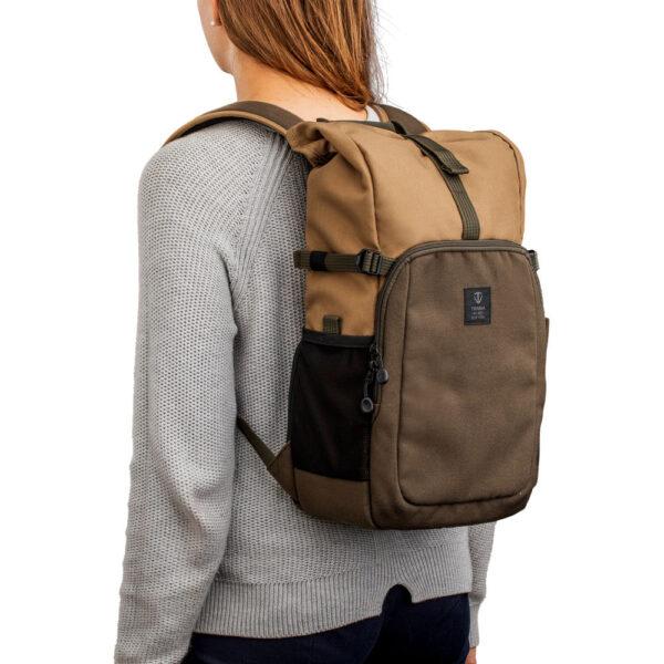 Tenba Fulton 10L Backpack Tan and Olive 11