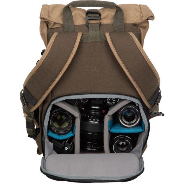 Tenba Fulton 10L Backpack Tan and Olive 3